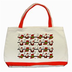 Xmas song pattern Classic Tote Bag (Red)