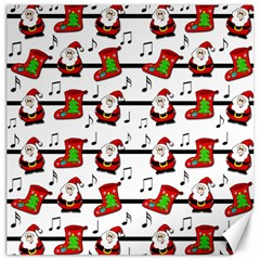 Xmas Song Pattern Canvas 12  X 12