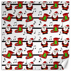 Xmas song pattern Canvas 20  x 20
