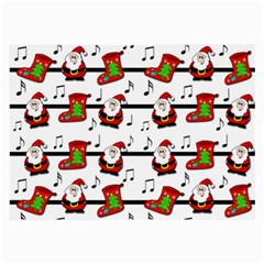 Xmas song pattern Large Glasses Cloth