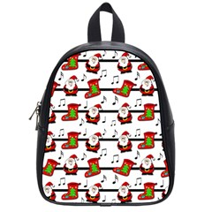 Xmas song pattern School Bags (Small)