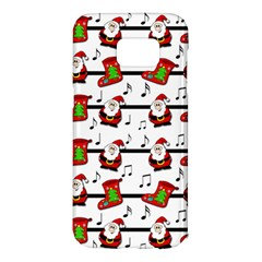 Xmas song pattern Samsung Galaxy S7 Edge Hardshell Case