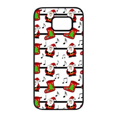 Xmas song pattern Samsung Galaxy S7 edge Black Seamless Case