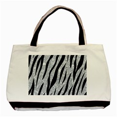 Skin3 Black Marble & Gray Marble (r) Basic Tote Bag (two Sides)
