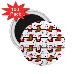 Xmas song pattern 2.25  Magnets (100 pack)