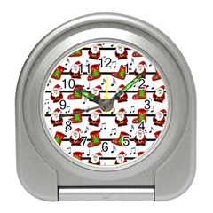 Xmas song pattern Travel Alarm Clocks