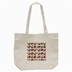 Xmas song pattern Tote Bag (Cream)