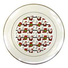 Xmas song pattern Porcelain Plates