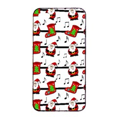 Xmas Song Pattern Apple Iphone 4/4s Seamless Case (black)