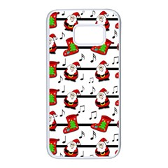Xmas song pattern Samsung Galaxy S7 White Seamless Case
