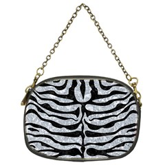 Skin2 Black Marble & Gray Marble (r) Chain Purse (one Side)