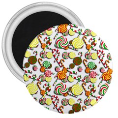 Xmas candy pattern 3  Magnets