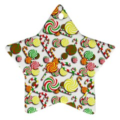 Xmas candy pattern Ornament (Star)