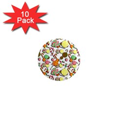 Xmas candy pattern 1  Mini Magnet (10 pack)
