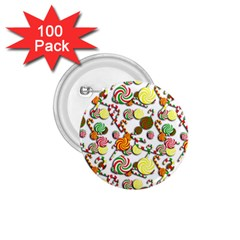 Xmas candy pattern 1.75  Buttons (100 pack)