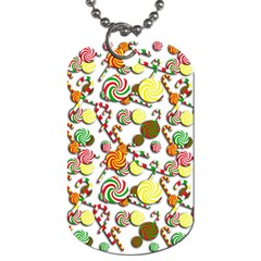 Xmas candy pattern Dog Tag (Two Sides)