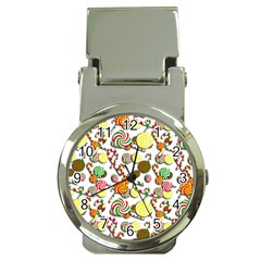 Xmas candy pattern Money Clip Watches
