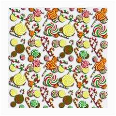 Xmas candy pattern Medium Glasses Cloth (2-Side)