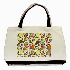 Xmas candy pattern Basic Tote Bag (Two Sides)