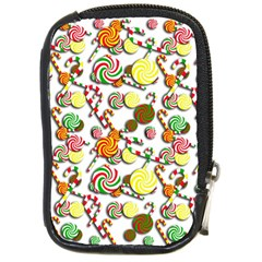 Xmas candy pattern Compact Camera Cases