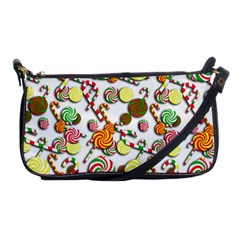 Xmas candy pattern Shoulder Clutch Bags
