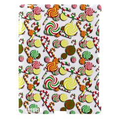 Xmas Candy Pattern Apple Ipad 3/4 Hardshell Case (compatible With Smart Cover)