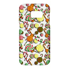 Xmas candy pattern Samsung Galaxy S7 Hardshell Case