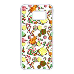 Xmas candy pattern Samsung Galaxy S7 White Seamless Case