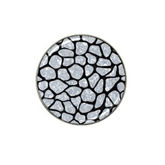 Skin1 Black Marble & Gray Marble Hat Clip Ball Marker (4 Pack)