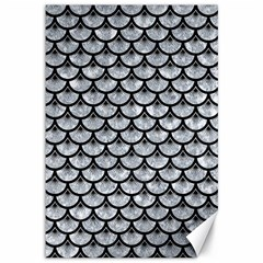 Scales3 Black Marble & Gray Marble (r) Canvas 12  X 18
