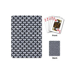 Scales3 Black Marble & Gray Marble (r) Playing Cards (mini)