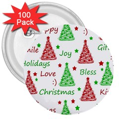 New Year pattern 3  Buttons (100 pack)