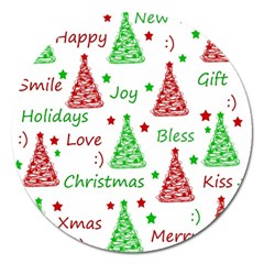 New Year Pattern Magnet 5  (round)
