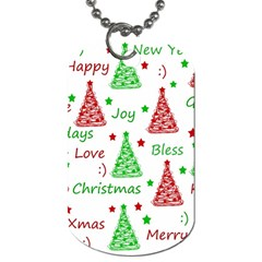 New Year pattern Dog Tag (Two Sides)