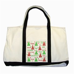 New Year pattern Two Tone Tote Bag