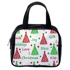 New Year pattern Classic Handbags (One Side)