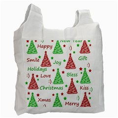 New Year pattern Recycle Bag (Two Side)