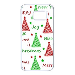 New Year pattern Samsung Galaxy S7 White Seamless Case