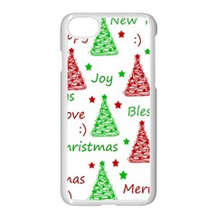 New Year Pattern Apple Iphone 7 Seamless Case (white)