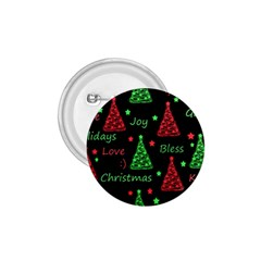 New Year pattern - red and green 1.75  Buttons