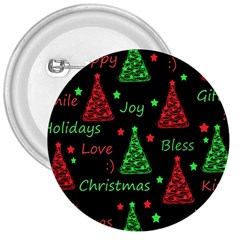 New Year Pattern   Red And Green 3  Buttons