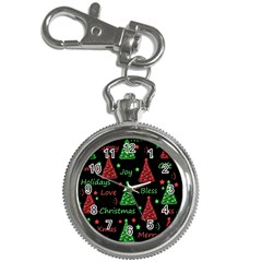 New Year pattern - red and green Key Chain Watches