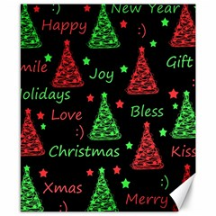 New Year Pattern   Red And Green Canvas 8  X 10