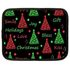 New Year pattern - red and green Netbook Case (XL)
