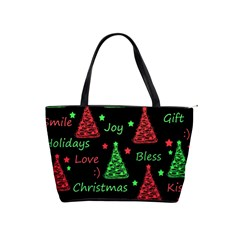 New Year pattern - red and green Shoulder Handbags