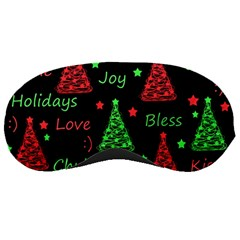 New Year pattern - red and green Sleeping Masks