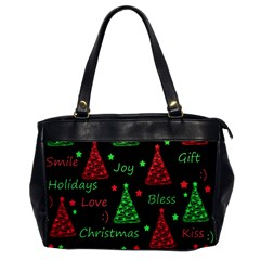 New Year pattern - red and green Office Handbags