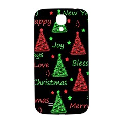 New Year Pattern   Red And Green Samsung Galaxy S4 I9500/i9505  Hardshell Back Case