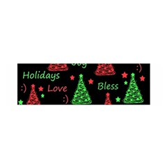 New Year pattern - red and green Satin Scarf (Oblong)