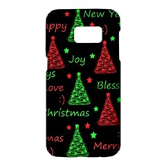 New Year pattern - red and green Samsung Galaxy S7 Hardshell Case